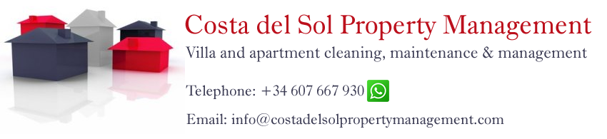 Costa del Sol property management and maintenance.